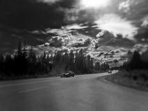 trafik för bildriftstoppväg Arkivbilder