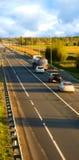 trafik för blurhuvudvägrörelse fotografering för bildbyråer