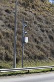 trafik för hastighet för radar för kamerahuvudvägpolis Polisradar Royaltyfri Bild