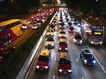 trafik för hong driftstoppkong arkivfoto