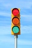 trafik för ljus signalering royaltyfri bild