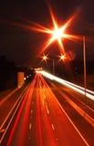 trafik för ljusa strimmor Arkivbild