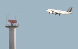 trafik för luftkontroll Arkivfoto