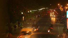 trafik för nattregnsnow arkivfilmer