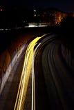 trafik för nattregnsnow Royaltyfri Fotografi