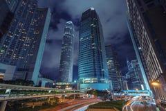 trafik för nattregnsnow royaltyfria foton