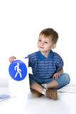trafik för tecken för barnspelrum Arkivfoton