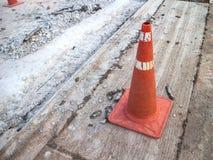 trafik för väg för färgkottebilaga set Arkivfoto