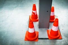 trafik för väg för färgkottebilaga set Royaltyfri Fotografi