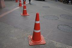 trafik för väg för färgkottebilaga set Fotografering för Bildbyråer