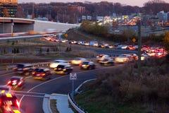 Trafik-flyttning Arkivfoto