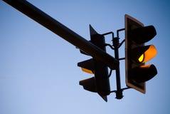 trafik för gul lampa Royaltyfri Bild