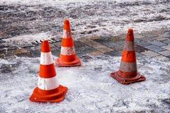 trafik för väg för färgkottebilaga set Royaltyfria Bilder