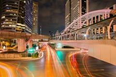 Trafik i Bankok Thailand Arkivbild