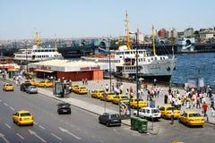 Trafik i Borphorus port royaltyfri fotografi