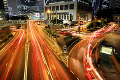 Trafik i centra Arkivfoto