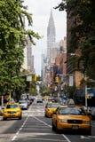 Trafik i det Gramercy avsnittet av New York Royaltyfria Bilder