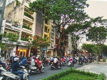 Trafik i Ho Chi Minh City arkivfoto