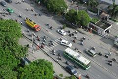 Trafik i Ho Chi Minh City Royaltyfria Bilder