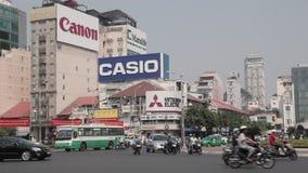 Trafik i Ho Chi Minh City lager videofilmer