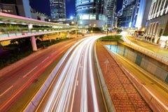 Trafik i Hong Kong royaltyfri fotografi