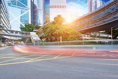 Trafik i Hong Kong arkivfoton