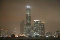 Trafik i Hong Kong Wan Chai Arkivbilder