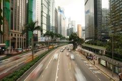 Trafik i Hong Kong Wan Chai Arkivbild