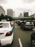Trafik i Jakarta Royaltyfria Bilder