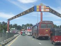 Trafik i Kandy, Sri Lanka Royaltyfri Fotografi