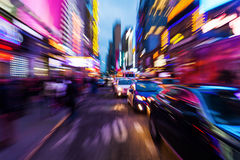 Trafik i Manhattan, NYC Arkivfoton