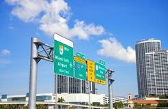 Trafik i Miami, Florida Royaltyfri Fotografi