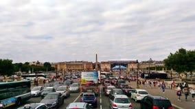 Trafik i Paris royaltyfria bilder