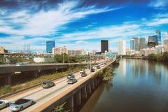 Trafik i Philadelphia Arkivfoton