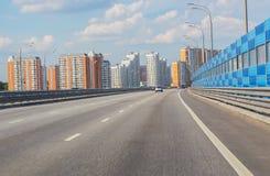 Trafik i storstaden Fotografering för Bildbyråer