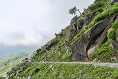 Trafik på bergvägen Arkivfoton