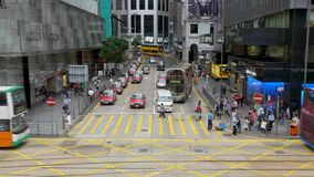 Trafik på CBD-område Hong Kong stock video