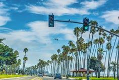 Trafik på den Cabrillo boulevarden Fotografering för Bildbyråer