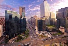 Trafik på den Gangnam staden Seoul Royaltyfria Foton