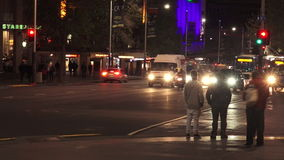 Trafik på drottninggatan i Auckland Nya Zeeland