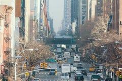 Trafik på gatan av New York Royaltyfri Bild