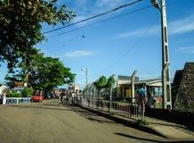 Trafik på gatan i Colombo, Sri Lanka Royaltyfria Bilder