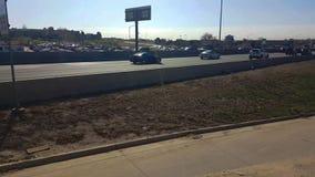 Trafik på huvudväg 125 i Denver lager videofilmer