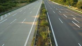 Trafik på huvudvägen med bilar germany stock video
