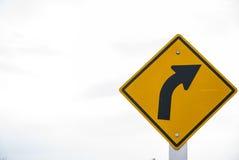 Trafik på kurvvägen Arkivfoto