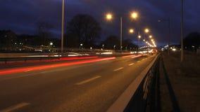 Trafik på motorväg lager videofilmer