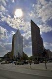 Trafik på Potsdamer Platz i Berlin Royaltyfria Bilder
