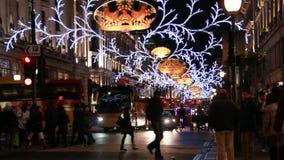 Trafik på Regent Street, London stock video