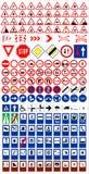 trafik signs1 royaltyfri illustrationer