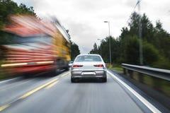 trafik som zoooming Royaltyfri Bild